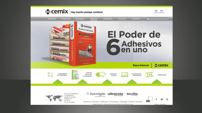 sitio web cemix